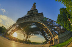 Sunrise in Paris. Sunrise at the Eiffel Tower in Paris Stock Images