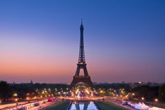 Sunrise in Paris with the Eiffeltower Stock Image