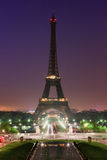 Sunrise in Paris with the Eiffeltower Stock Photography