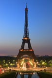 Sunrise in Paris with the Eiffeltower Royalty Free Stock Photos