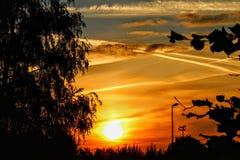 Sunrise in Paris stock image