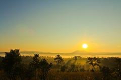 Sunrise Park. Sunrise at Thung Salaeng Luang National Park in Phetchabun province of Thailand Stock Image