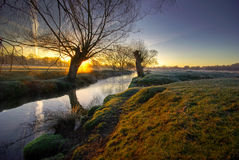 Sunrise in the park4 Royalty Free Stock Photography