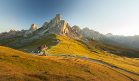 Sunrise in Passo Giau, Dolomites, Italy Stock Photo
