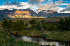 Sunrise in Patagonian Andes Stock Photography