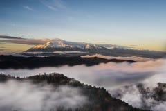 Sunrise Peak. Magnificent vista showing High Tatras from highest point of Pieniny National Park Slovakia called Vysoke skalky slovak / Wysokie skalki polish / Royalty Free Stock Image