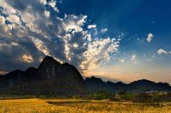 Sunrise peaks Stock Image