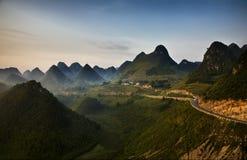 Sunrise peaks Stock Photo