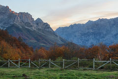 Sunrise in Peaks of Europe Royalty Free Stock Images