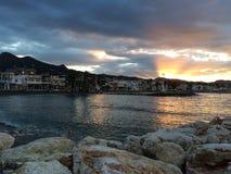 Sunrise at Pedregalego, Malaga, Spain Stock Photo