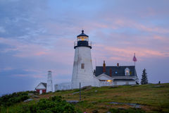 Sunrise at the Pemaquid Lighthouse Stock Image