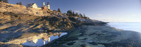 Sunrise at Pemaquid Point Royalty Free Stock Images