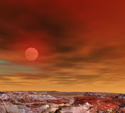 Sunrise Petrified Forest Arizona Stock Photo