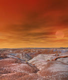Sunrise Petrified Forest Arizona Royalty Free Stock Images