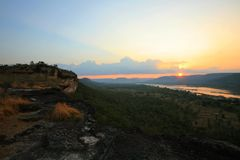 Sunrise at Pha Taem, Ubon Ratchathani Royalty Free Stock Images