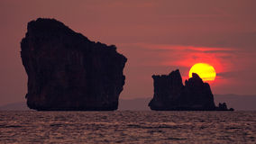 Sunrise. In phang nga THAILAND Stock Photography