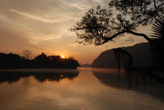 Sunrise on Phewa Lake Stock Image