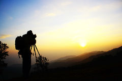 Sunrise with photography Royalty Free Stock Photo