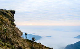 Sunrise at Phu Cheefa park Chiangrai, Thailand Stock Photo