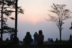 Sunrise at Phu Kradueng, Loei Royalty Free Stock Photo