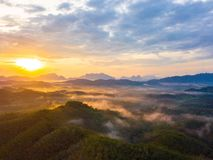 Sunrise at Phu Ta Tun Viewpoint Phang nga province. Thailand stock photos