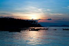 Sunrise at Phuket Beach Royalty Free Stock Photos