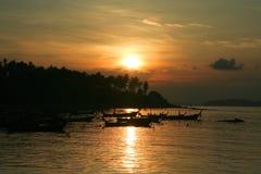 Sunrise at Phuket Beach Stock Images