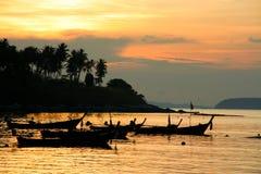 Sunrise at Phuket Beach Royalty Free Stock Photography