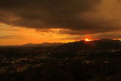 Sunrise at phuket town Stock Photos