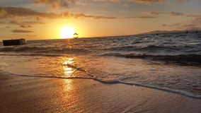 Sunrise. A picture of sunrise and high tide Royalty Free Stock Photos