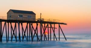 Sunrise pier Royalty Free Stock Photos