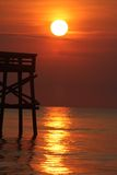 Sunrise at the pier Royalty Free Stock Images