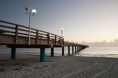 Sunrise on the Pier in Binz, Ruegen Island Stock Photos