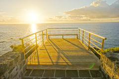 Sunrise Pier Stock Image