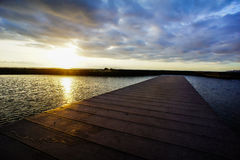 Sunrise Pier Royalty Free Stock Photography