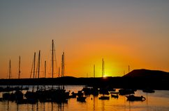 Sunrise Pier. Sunrise on a Pier over Atlantic Ocean in Tenerife Canary Islands Spain Royalty Free Stock Photography