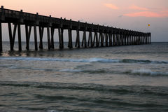 Sunrise at the pier Royalty Free Stock Photography