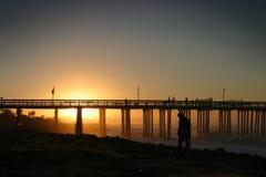 Sunrise Pier Ventura Stock Images