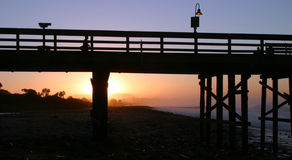 Sunrise Pier Ventura. The Ventura pier at sunrise at the beach Royalty Free Stock Photos