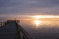 Sunrise from the pier Stock Photos