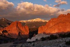 Sunrise on Pikes Peak Stock Photo