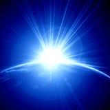 Sunrise on planet earth Stock Photos