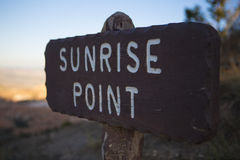 Sunrise point at Bryce Canyon Stock Photography