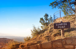 Sunrise Point of Bryce Canyon National Park in the Very Morning. Stock Images