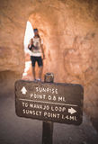 Sunrise Point and Navajo Loop, Bryce Canyon Stock Image
