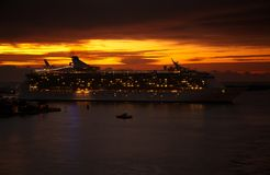 Sunrise at Port Everglades Royalty Free Stock Photography