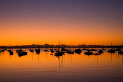 Sunrise in Port Townsend Bay Washington Royalty Free Stock Image