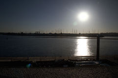 Sunrise at Portimao port 16 Stock Photos