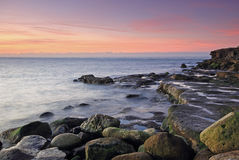 Sunrise on portland in Dorset Stock Photos