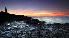 Sunrise on portland in Dorset Stock Image